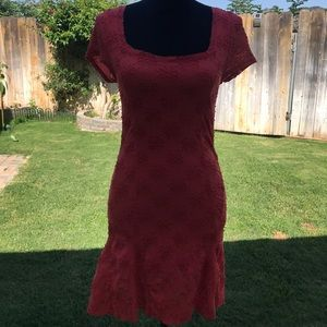 Free people coral dress size small